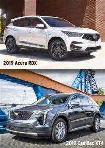 Comparing 2019 Acura RDX with Cadillac XT4